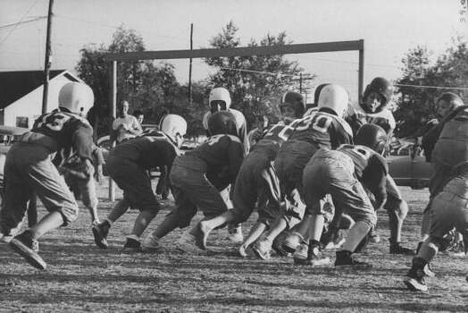 Circa 1950s - Texas Football game 6th of Reinhardt vs Case View Elementary Schools.  (Photo by Joseph Scherschel//Time Life Pictures/Getty Images) Photo: Joseph Scherschel, Time & Life Pictures/Getty Image / Time Life Pictures