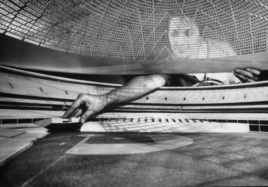Circa 1960s - Concept model of future Houston Astrodome.  (Photo by A. Y. Owen//Time Life Pictures/Getty Images) Photo: A. Y. Owen, Time & Life Pictures/Getty Image / A. Y. Owen