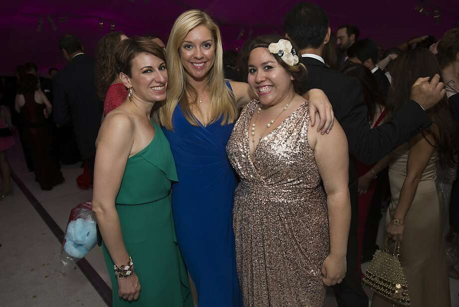 (L-R) Robyn Cain, Stephanie Dowd, and Paloma Figueroa stand for a photo at the Gala After-Party at Davies Symphony Hall in San Francisco, Calif. on Tuesday, Sept. 3, 2013. Photo: Stephen Lam, Special To The Chronicle