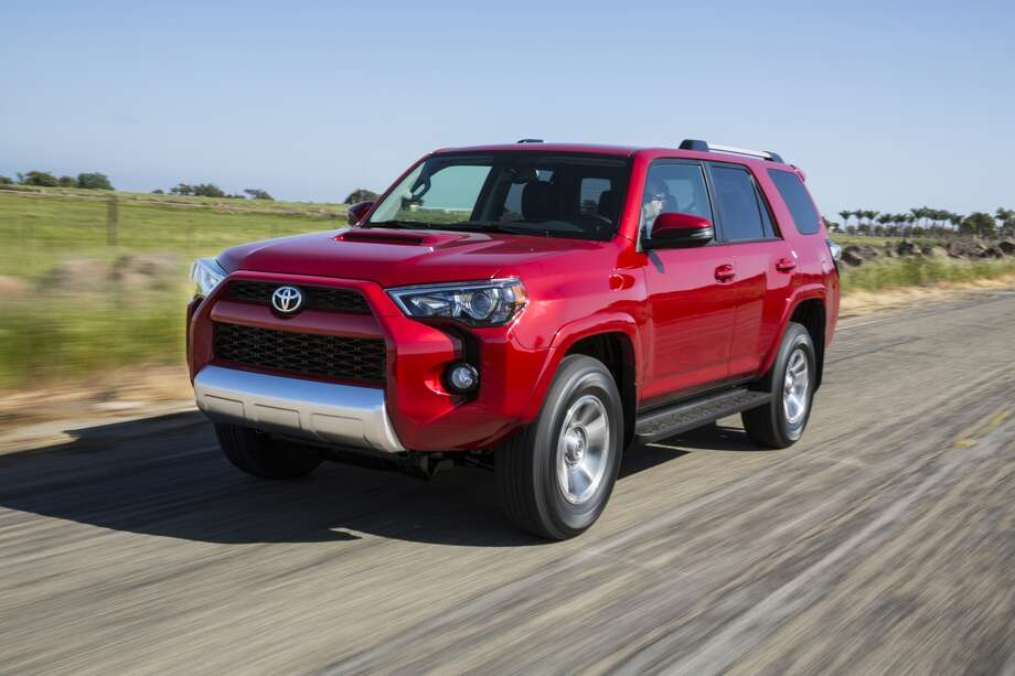The redesigned 2014 4Runner has a distinctive, architectural front grille and a standard roof rack on all trim levels. Inside, there's more second-row leg room thanks to sculpted front seats, and lower trim levels get nicer features like a leather-wrapped steering wheel and shifter. The 4.0-liter, 270-horsepower V6 remains, and gets 17 mpg in the city and 22 on the highway for the 4x4 or 23 for the 4x2. Pricing hasn't been released for the SUV, which goes on sale in September.