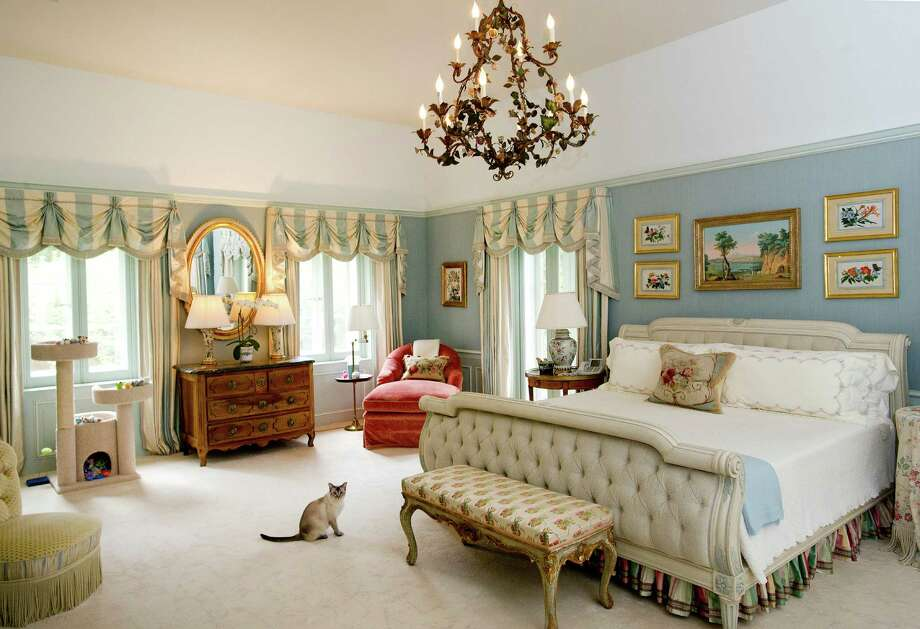 The master bedroom of the home at 218 Clapboard Ridge in Greenwich. Conn., on Tuesday, Sept. 3, 2013. The home is up for sale with an asking price of $25 million. Photo: Lindsay Perry / Stamford Advocate