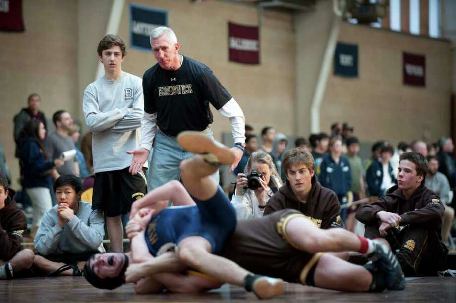 Brunswick wrestling  Head Coach Tim Ostrye, Saturday Jan. 22, 2011. Photo: Douglas Healey, Douglas Healey/For Greenwich Time / Greenwich Time