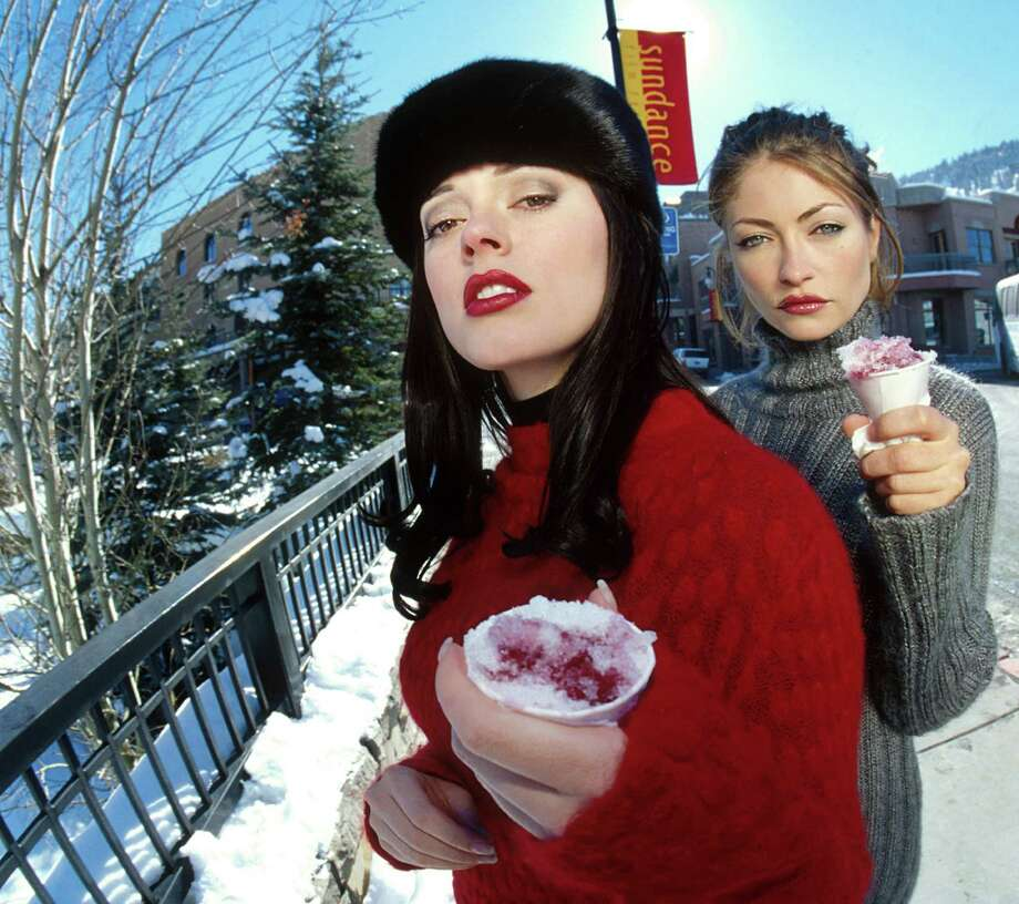 1999: McGowan and Rebecca Gayheart during the Sundance Film Festival. Photo: Randall Michelson Archive, / / WireImage