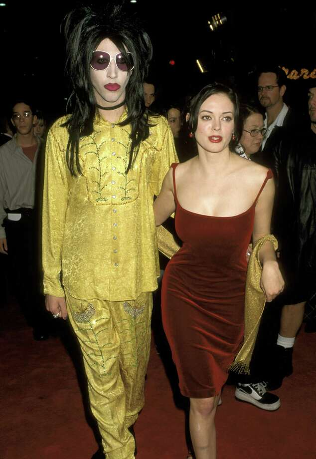 1997: Marilyn Manson and McGowan at an event. Photo: Ron Galella, / / Ron Galella Collection