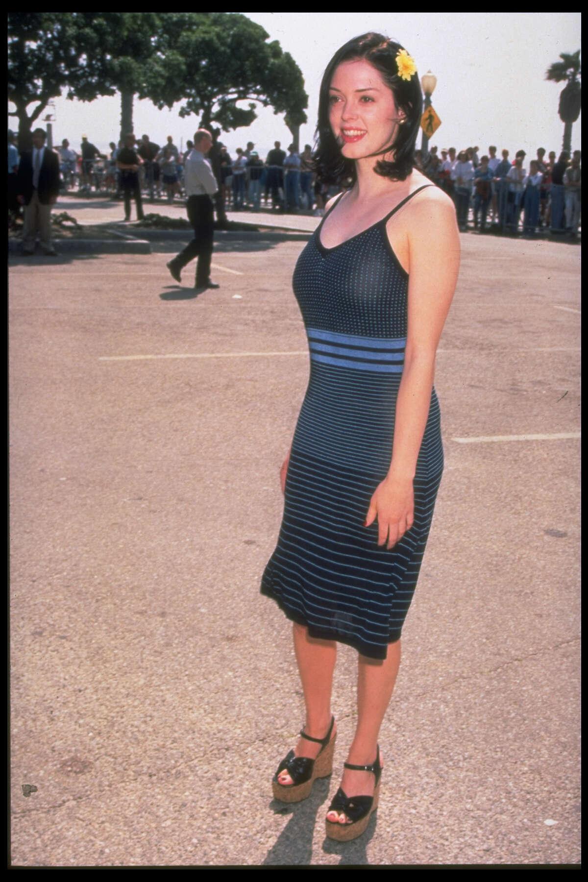1997: McGowan pictured in California.