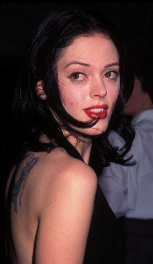 "1996: McGowan pictured during the ""Scream"" premiere in Los Angeles. Photo: Barry King, / / 2002 Wireimage.com"