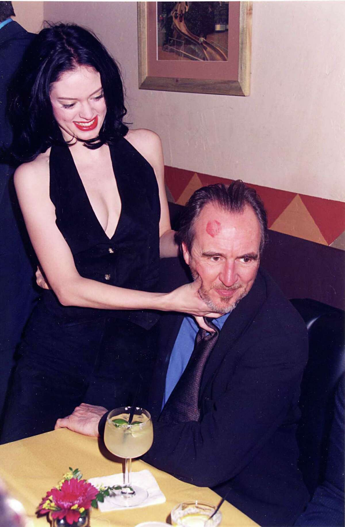 1996: McGowan and director Wes Craven during
