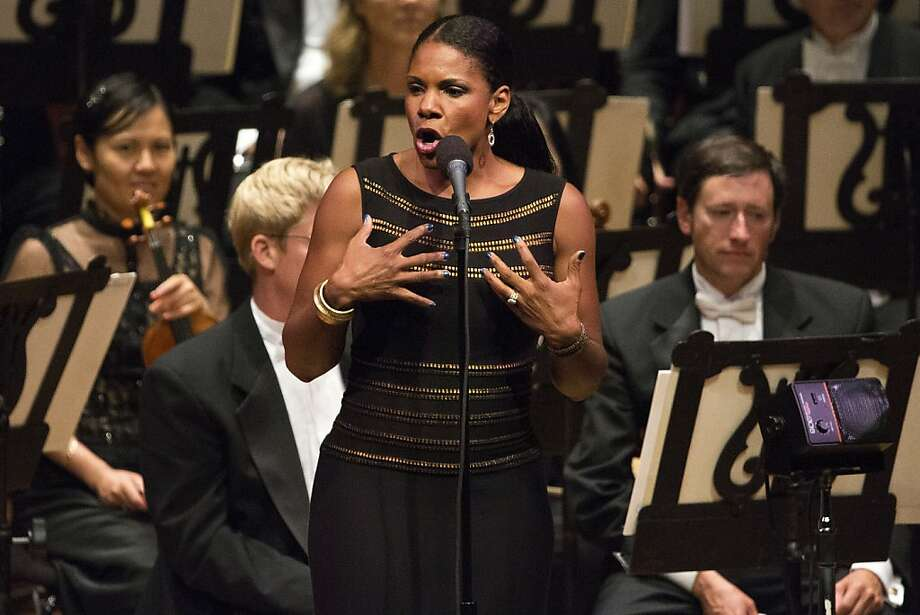 Audra McDonald conveyed the emotional layers of the songs with wisdom, vocal precision and her incredible range. Photo: Stephen Lam, Special To The Chronicle