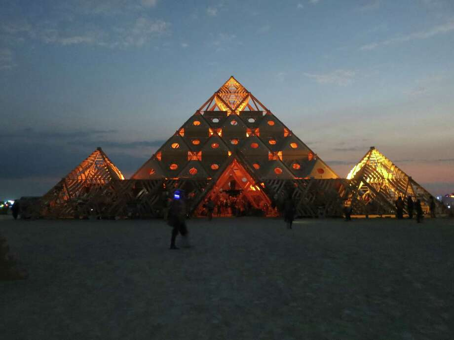 One of the many elaborate creations on the Playa at Burning Man 2013. http://www.fest300.com/ Photo: Art Gimbel / Fest300.com