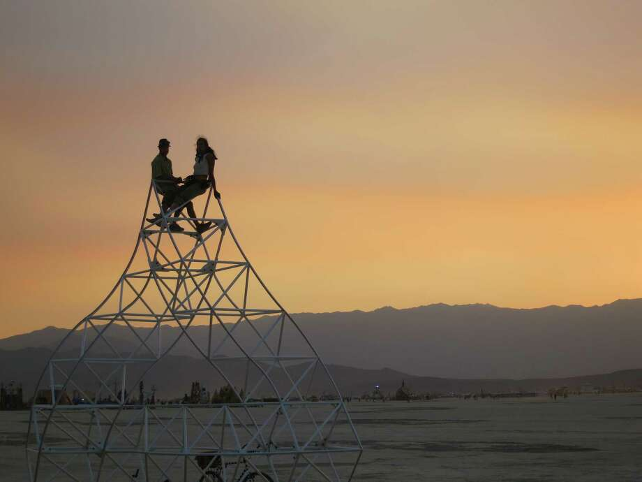 Taking in the view at Burning Man 2013. http://www.fest300.com/ Photo: Art Gimbel / Fest300.com