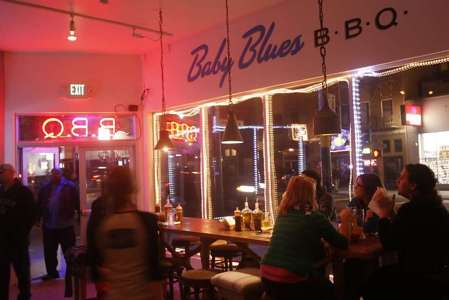 Just past Cesar Chavez at 3149 Mission is Baby Blues. They have an extensive menu of BBQ platters and sides, including some great fish. Baby Blues features Memphis style ribs so you're out of luck if you can't stomach anything but the St. Louis variation. Photo: Craig Lee, The Chronicle