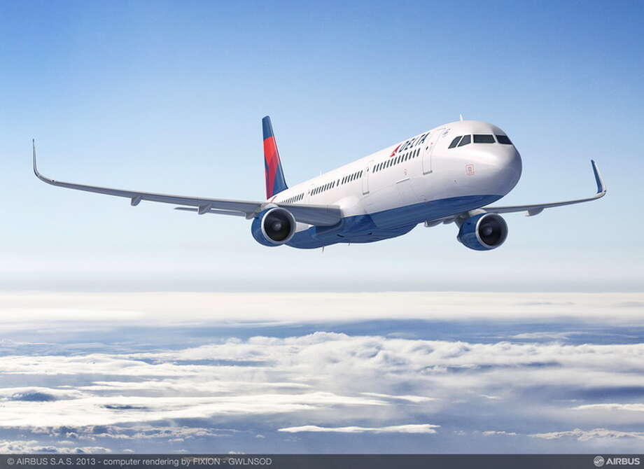 An Airbus A321 for Delta Airlines is shown in this artist's depiction. Photo: Airbus