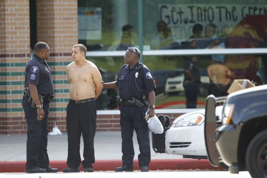 Police respond to a stabbing incident at Spring High School on Wed., Sept. 4. Photo: Brett Coomer, Chronicle