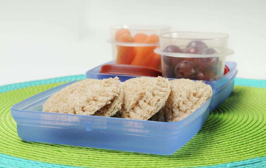 Sandwich pockets for a school lunch Monday Aug. 16, 2013. (Will Waldron/Times Union) Photo: WW / 00023490A