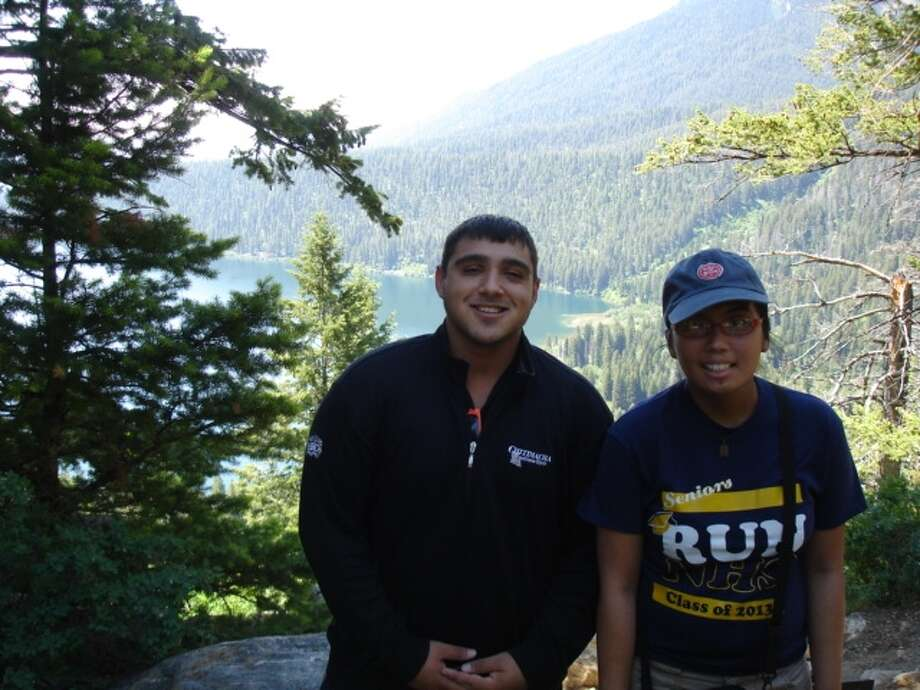 Cancer survivors Angelica Reyes and her friend, Reno, enjoyed hiking and other outdoor activities recently at the Children's Grand Adventure in Jackson Hole, Wyo. Photo: Contributed