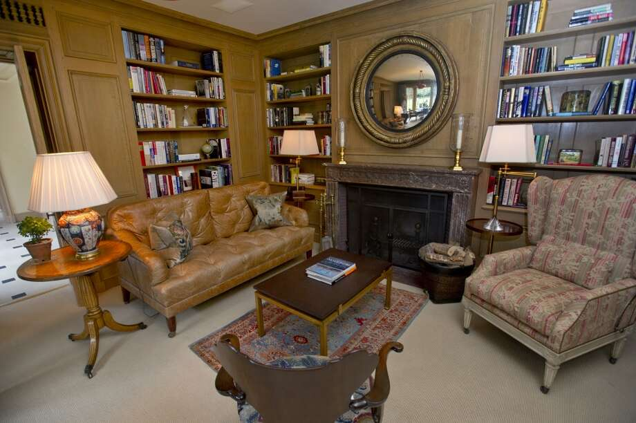 The library of the home at 218 Clapboard Ridge in Greenwich. Conn., on Tuesday, Sept. 3, 2013. The home is up for sale with an asking price of $25 million. Photo: Lindsay Perry