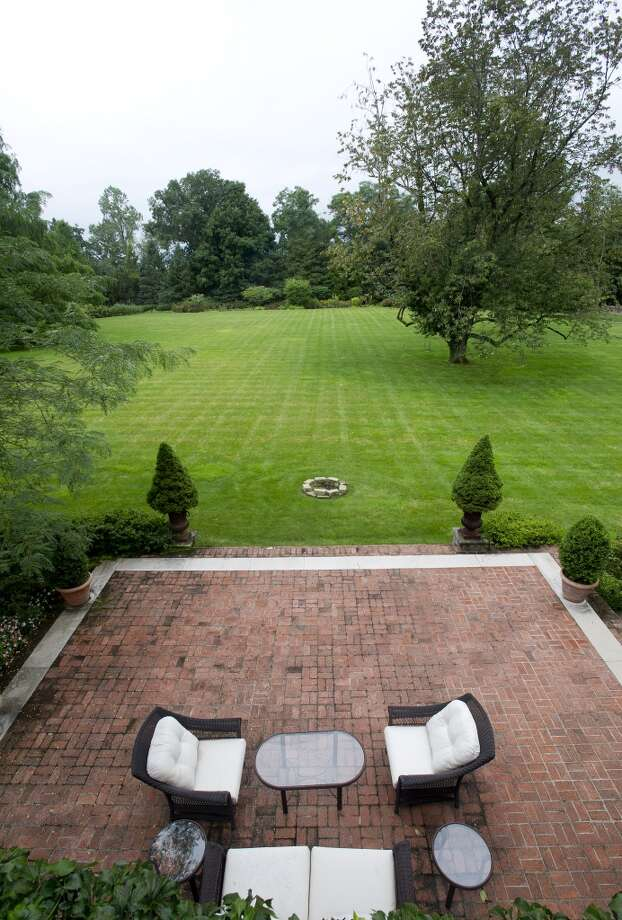 The view from the master bedroom balcony in the home at 218 Clapboard Ridge in Greenwich. Conn., on Tuesday, Sept. 3, 2013. The home is up for sale with an asking price of $25 million. Photo: Lindsay Perry