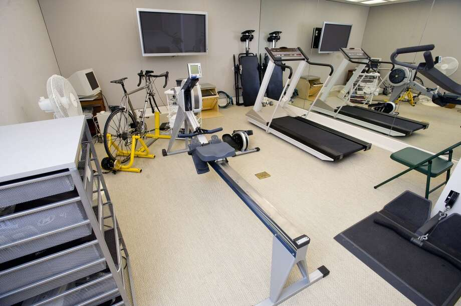 The gym in the home at 218 Clapboard Ridge in Greenwich. Conn., on Tuesday, Sept. 3, 2013. The home is up for sale with an asking price of $25 million. Photo: Lindsay Perry