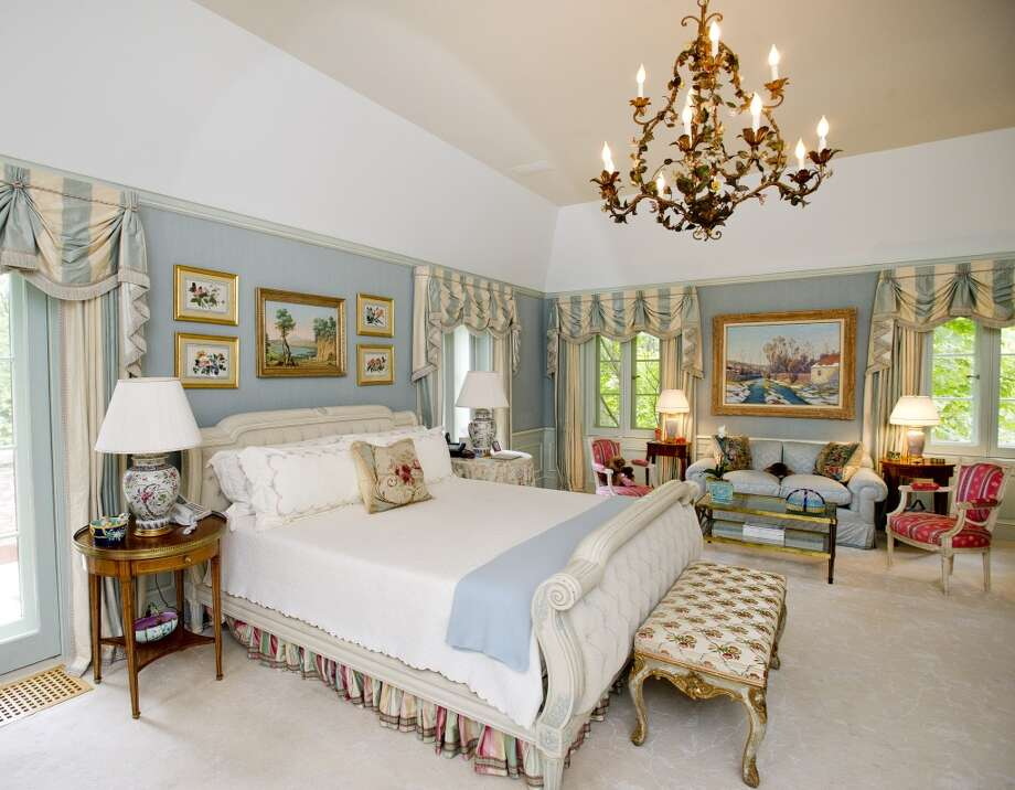 The master bedroom of the home at 218 Clapboard Ridge in Greenwich. Conn., on Tuesday, Sept. 3, 2013. The home is up for sale with an asking price of $25 million. Photo: Lindsay Perry