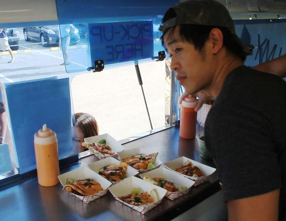 OH MY GOGI! This little operation serves fare that fuses the flavors of Korean barbecue with Mexican street fare. So what do you get? That would be Korean BBQ tacos filled with beef short rib, kimchi quesadillas served with a house-made salsa and OMG! fires topped spicy pork and Mexican cheeses. twitter.com/OhMyGogi