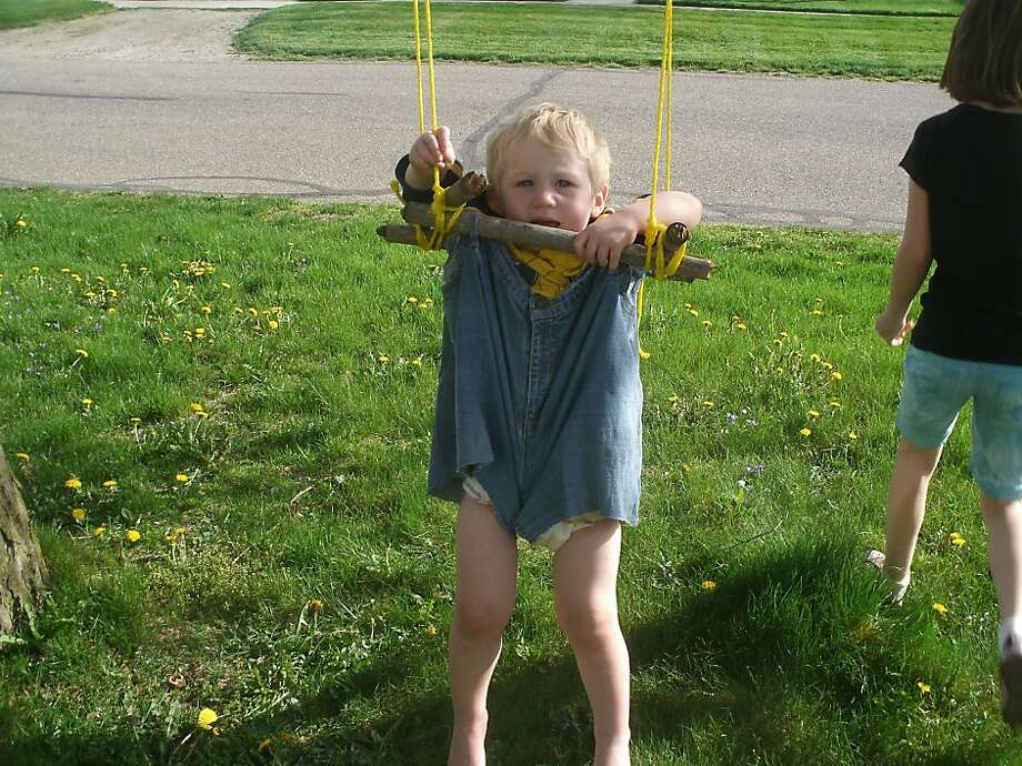 """I loved the idea of making a swing from recycled jeans,"" the post read. Clearly, some things are better left unmade. Click here to see the original inspiration. Photo: Pinterestfail.com"