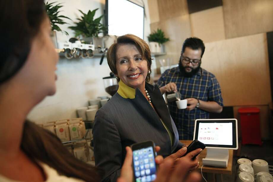 House Minority Leader Nancy Pelosi visits Square's S.F. office. She supports President Obama's Syria plan. Photo: Lea Suzuki, The Chronicle