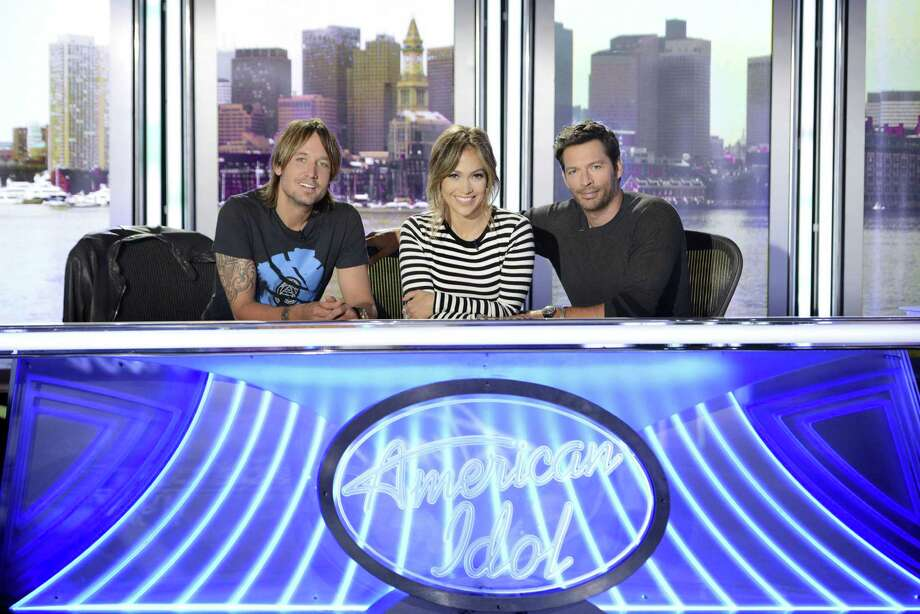 "How do Keith Urban (from left), Jennifer Lopez and Harry Connick Jr. shape up as the new judges for ""American Idol""? Photo: Fox"