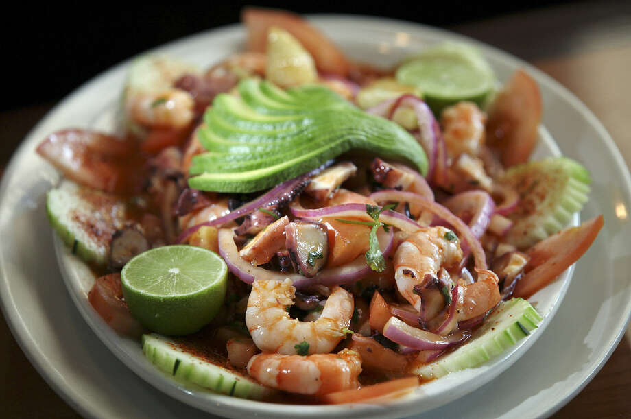 The Botana de Camaron y Pulop is among the stellar seafood dishes at El Bucanero. Photo: Express-News File Photo