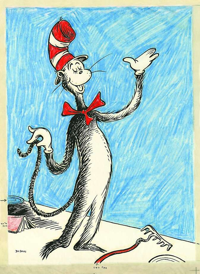 "The hat from ""The Cat in the Hat"" is on view at the exhibit. Photo: Courtesy Of Dr. Seuss Estate"