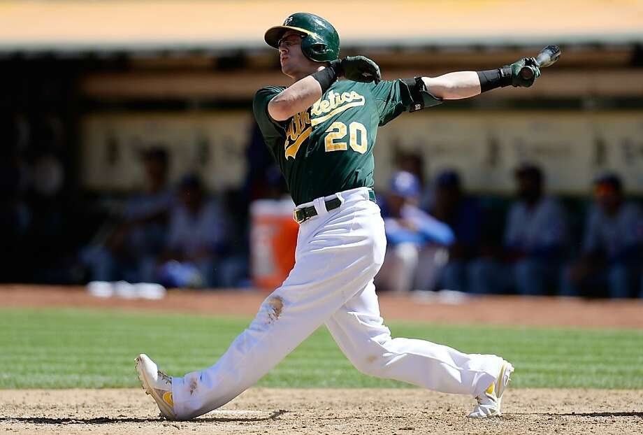Of the A's four home run hitters, Josh Donaldson got the biggest bang for his buck: a three-run shot. Photo: Thearon W. Henderson, Getty Images