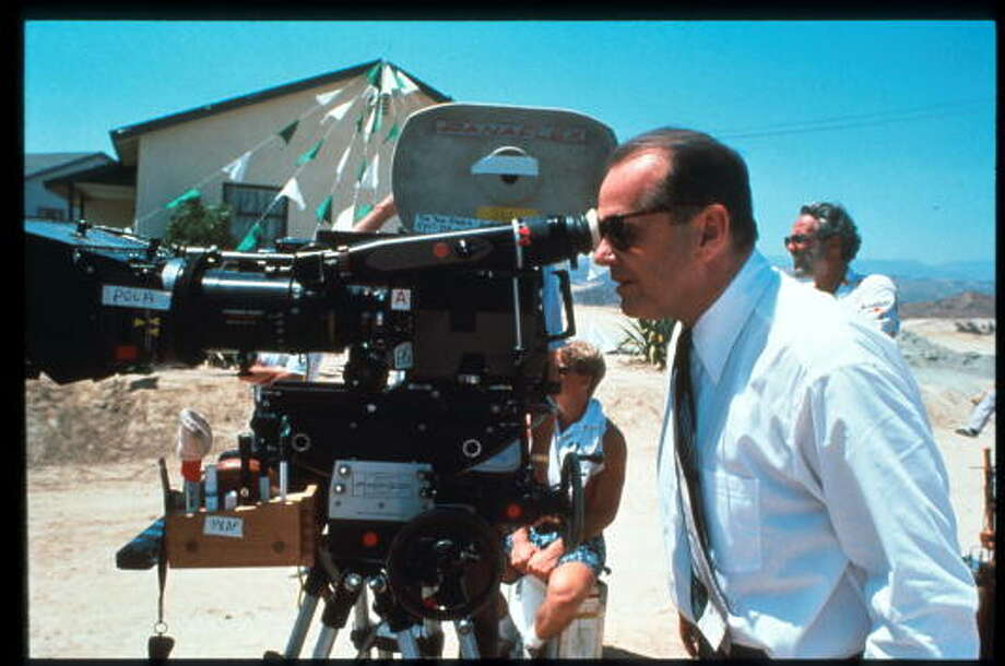 "Actor and director Jack Nicholson looks into the viewfinder of a PanaFlex camera on the set of ""The Two Jakes,"" the sequel to ""Chinatown"" September 1, 1989 in USA. The film is Nicholson's second turn as star and director. (Photo by Liaison) Photo: Getty Images / Hulton Archive"