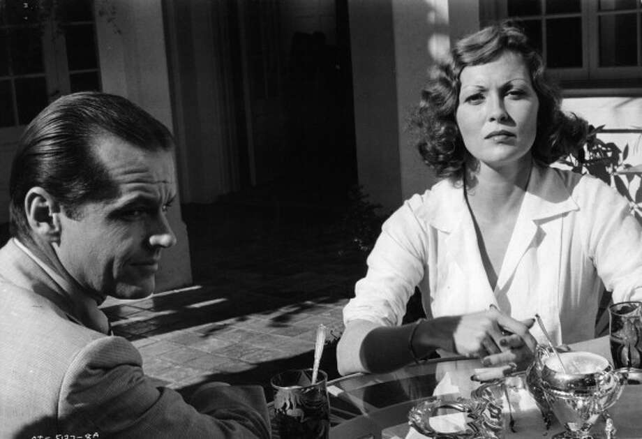 Jack Nicholson sitting at outside table with Faye Dunaway in a scene from the film 'Chinatown', 1974. (Photo by Paramount/Getty Images) Photo: Archive Photos, Getty Images / 2012 Getty Images