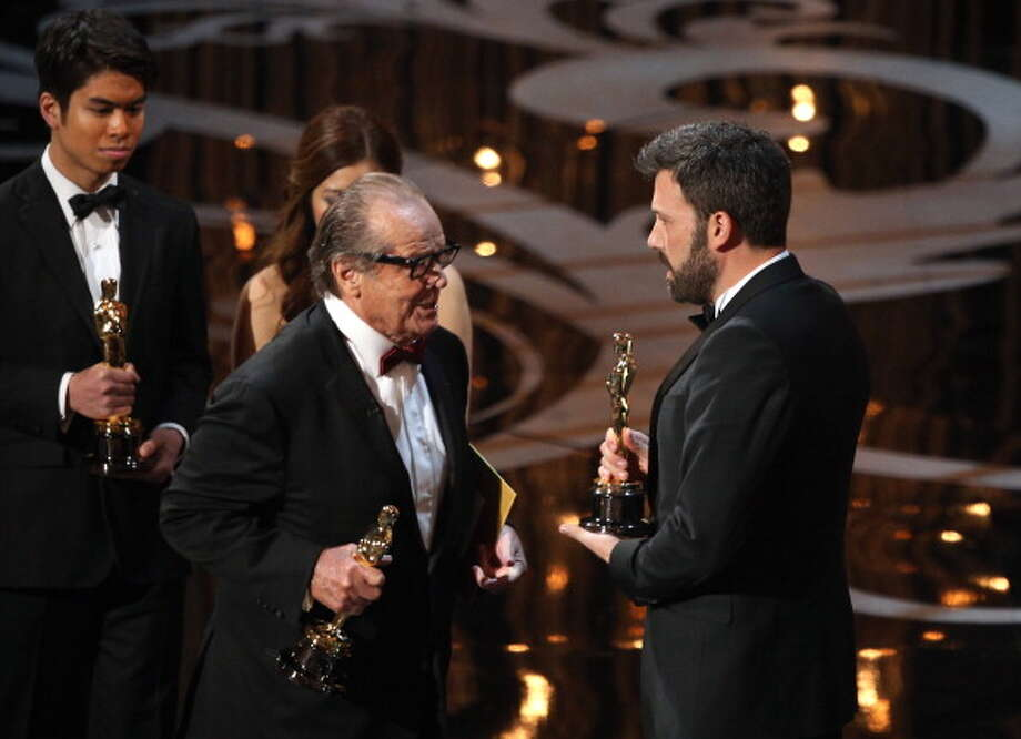 HOLLYWOOD, CA - FEBRUARY 24:  Actor/producer/director Ben Affleck accepts the Best Picture award for 'Argo' from presenter Jack Nicholson onstage onstage during the Oscars held at the Dolby Theatre on February 24, 2013 in Hollywood, California.  (Photo by Mark Davis/WireImage) Photo: Mark Davis, WireImage / 2013 WireImage