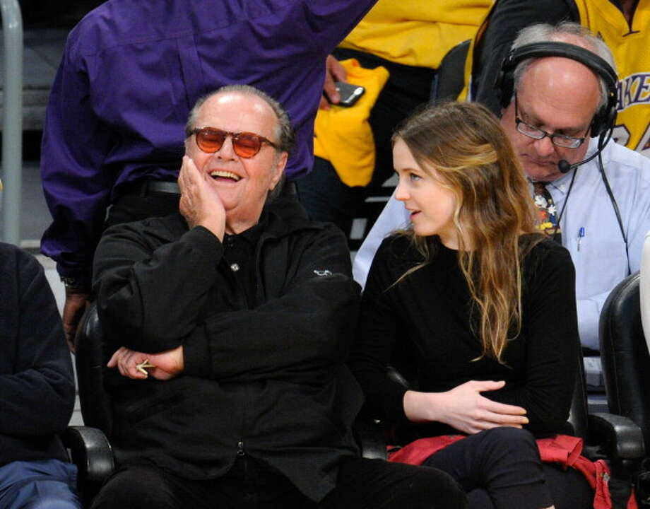 Jack Nicholson and his daughter Lorraine Nicholson attend an NBA playoff game between the San Antonio Spurs and the Los Angeles Lakers at Staples Center on April 26, 2013 in Los Angeles, California.  (Photo by Noel Vasquez/Getty Images) Photo: Noel Vasquez, Getty Images / 2013 Getty Images