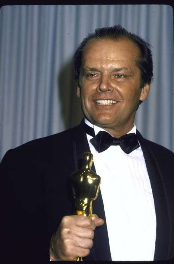 Actor Jack Nicholson holding his Oscar in Press Room at Academy Awards.  (Photo by David Mcgough/DMI/Time Life Pictures/Getty Images) Photo: David McGough, Time & Life Pictures/Getty Image / Time Life Pictures