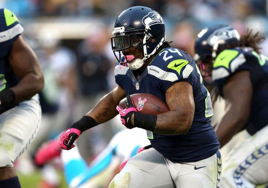On the status of RB Marshawn Lynch:  ''He's in great shape. He reported in great shape. He had a plan to trim a few pounds during training camp; he didn't exactly like he had planned it. He's looked fast and agile and strong, and has prepared every single day full-on. He has had a great preparation for the season. He's going to have enough hits during the season, so (through the preseason) we have tried to take as many off of him as we can at this time.   ''But I haven't seen him like this. I haven't seen him this sharp going in. He's really taking this seriously. That's not just like the last month or so, that's six months of preparation. He's really poured himself into preparing for a great year.'' Photo: Streeter Lecka, Getty Images