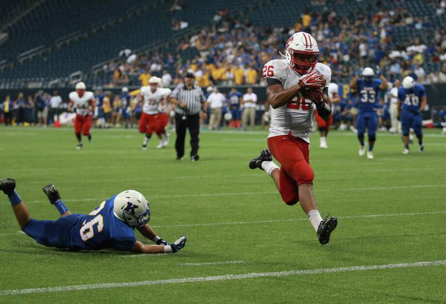 Rodney Anderson scored four touchdowns for Katy against Klein. Photo: Eric Christian Smith, Freelance