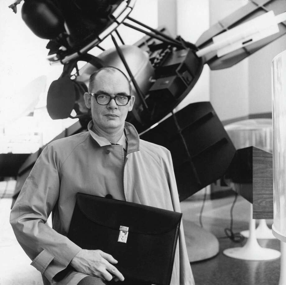 Frederik Pohl, shown in 1967, published more than 65 novels; nearly half of them with friends and colleagues. Photo: New York Times File Photo