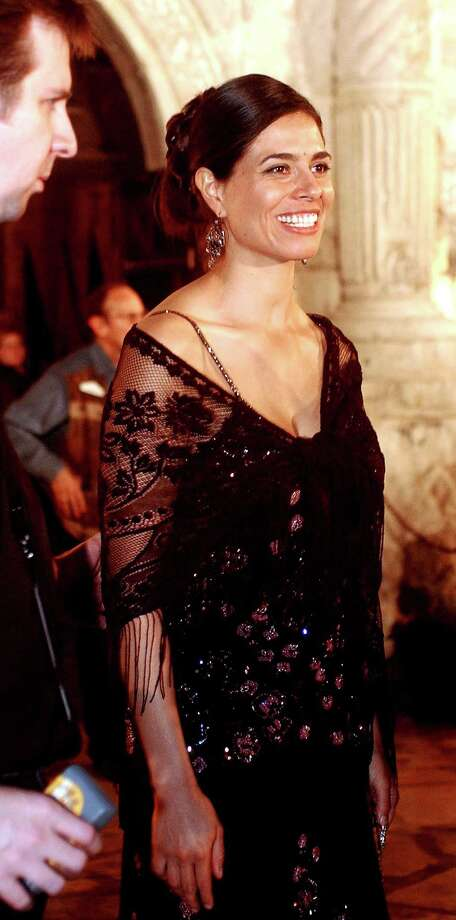 "Estephania LeBaron, who plays Juana in ""The Alamo,"" leaves the historic Alamo after a tour on March 27, 2004, at the Disney Premiere After Party in San Antonio. Photo: Jill Torrance, Getty Images / 2004 Getty Images"