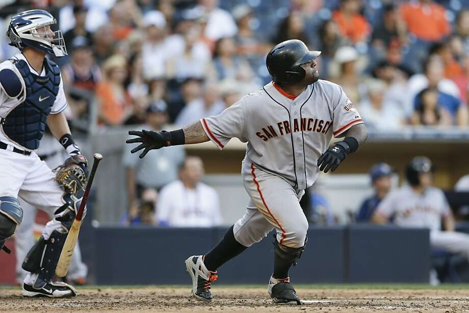 Pablo Sandoval reportedly wants to spend the winter in Venezuela partly to be close to family, but also to prove that he has the discipline to get in shape without being babysat. Photo: Gregory Bull, Associated Press