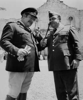 """Peter Ustinov and Jonathan Winters have a heated conversation in a scene from the film """"Viva Max,"""" 1969. Photo: Michael Ochs Archives, Getty Images / 2011 Getty Images"""