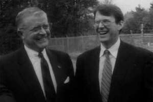 Fred Field, left, and former U.S. Rep. Michael McNulty. (Times Union archive)