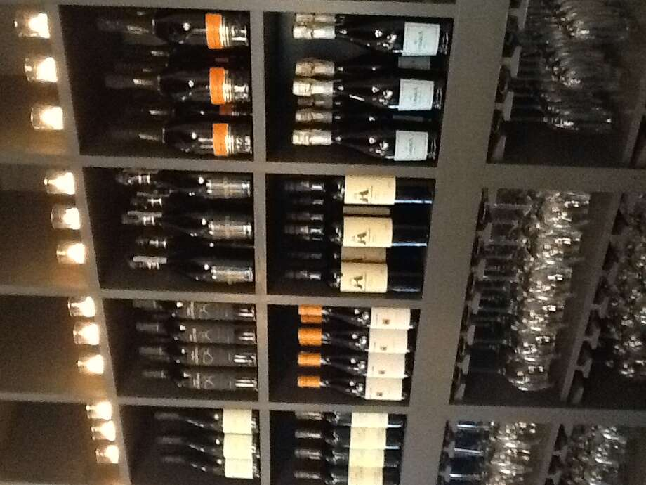 Wine wall in the bar at Coppa Osteria in Rice Village. (Photo: Greg Morago)