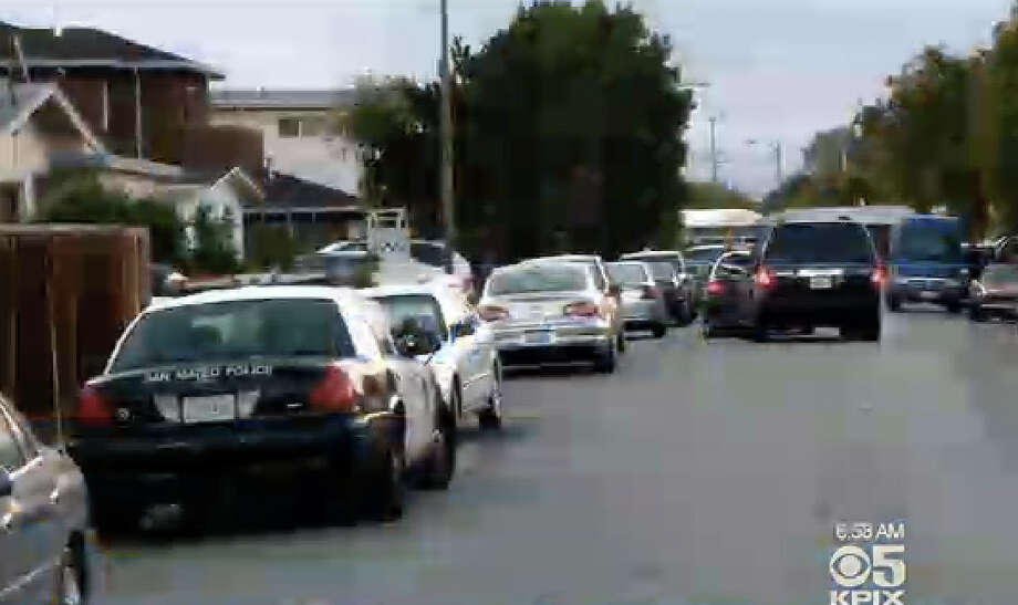 Police in San Mateo were investigating a shooting inside a home. Photo: CBS San Francisco