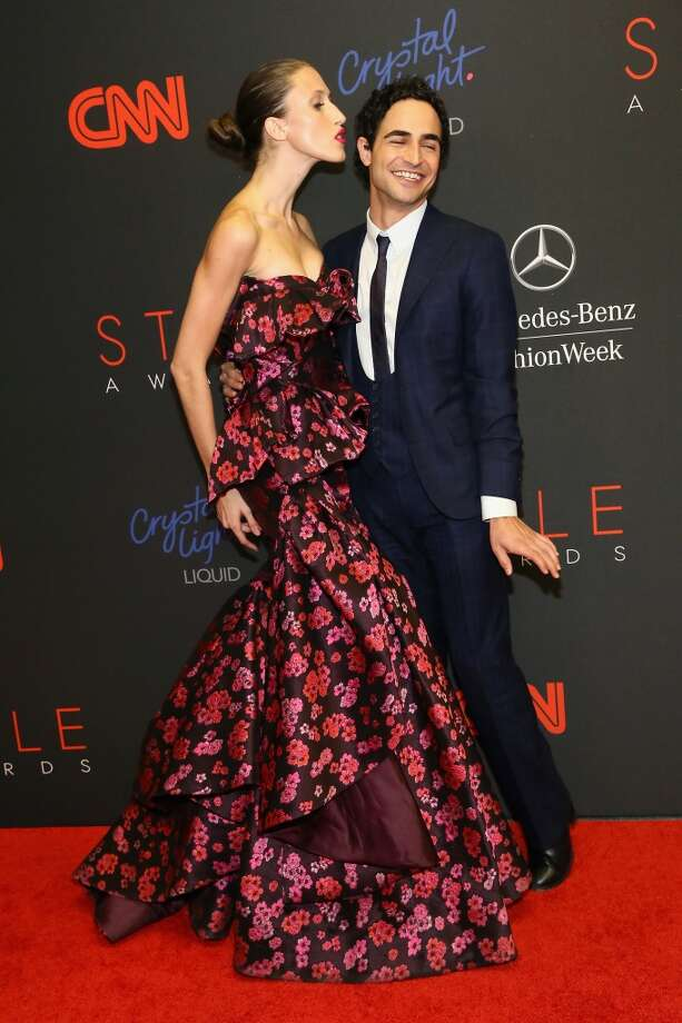 Model Anna Cleveland and Designer Zac Posen attend the 10th annual Style Awards during Mercedes Benz Fashion Week Spring 2014 at Lincoln Center on September 4, 2013 in New York City.  (Photo by Astrid Stawiarz/Getty Images for Mercedes-Benz Fashion Week) Photo: Astrid Stawiarz