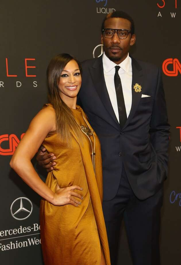 Professional Basketball Player Amar'e Stoudemire (R) and Alexis Welch attend the 10th annual Style Awards during Mercedes Benz Fashion Week Spring 2014 at Lincoln Center on September 4, 2013 in New York City.  (Photo by Astrid Stawiarz/Getty Images for Mercedes-Benz Fashion Week) Photo: Astrid Stawiarz