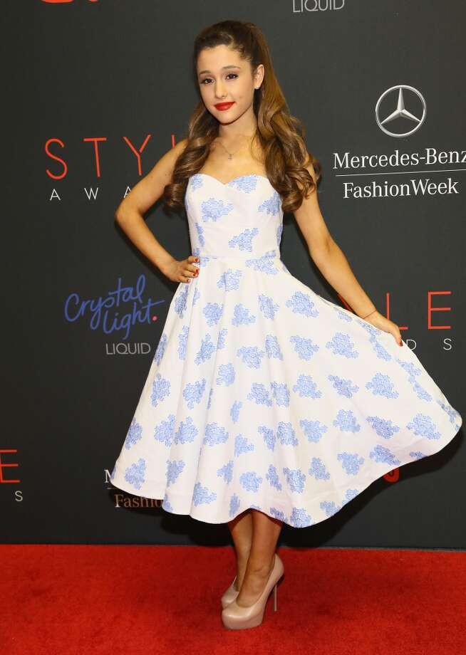 Actress Ariana Grande attends the 10th annual Style Awards during Mercedes Benz Fashion Week Spring 2014 at Lincoln Center on September 4, 2013 in New York City.  (Photo by Astrid Stawiarz/Getty Images for Mercedes-Benz Fashion Week) Photo: Astrid Stawiarz