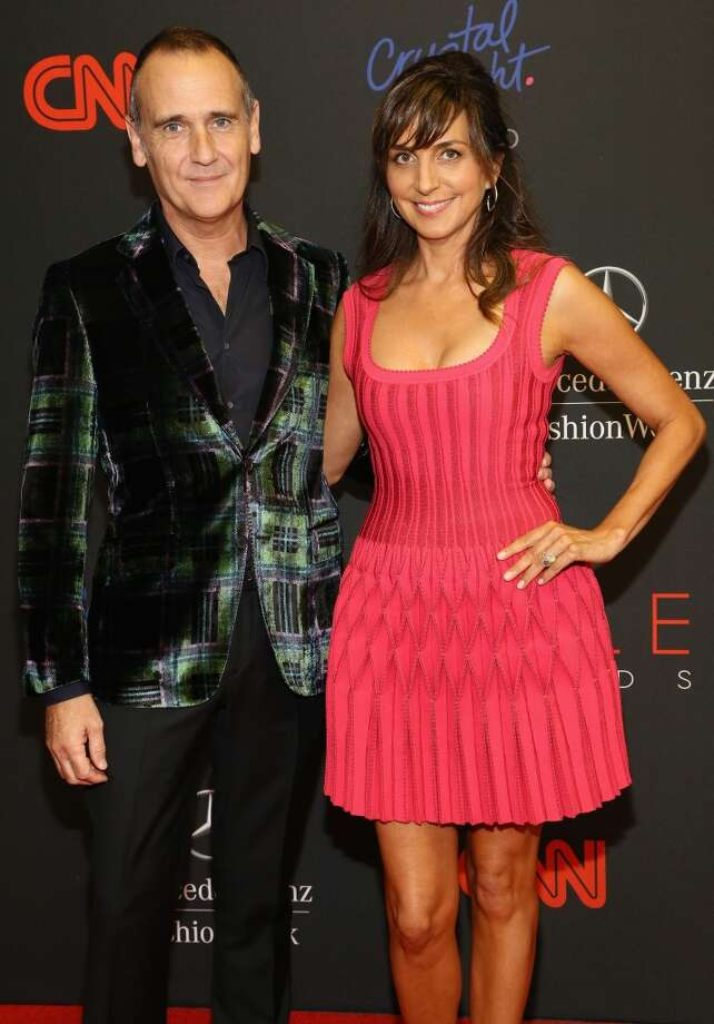 Nigel Curtis (L) and Monica Mitro attend the 10th annual Style Awards during Mercedes Benz Fashion Week Spring 2014 at Lincoln Center on September 4, 2013 in New York City.  (Photo by Astrid Stawiarz/Getty Images for Mercedes-Benz Fashion Week) Photo: Astrid Stawiarz