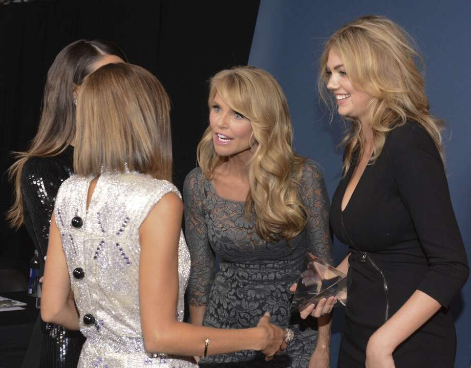 Host Nicole Richie, model Christie Brinkley and winner of Model of the Year Kate Upton attend the 10th annual Style Awards during Mercedes-Benz Fashion Week Spring 2014 at Lincoln Center on September 4, 2013 in New York City.    (Photo by Vivien Killilea/Getty Images for Mercedes-Benz Fashion Week) Photo: Vivien Killilea, Getty Images