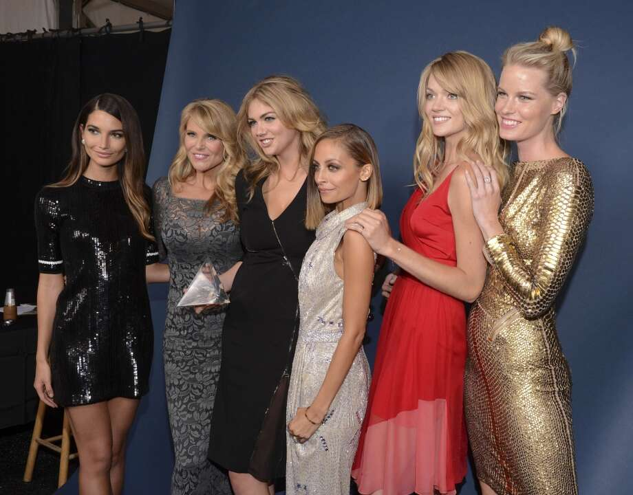 Models Lily Aldridge and Christie Brinkley, winner of Model of the Year Kate Upton, host Nicole Richie, model Lindsay Ellingson and a guest attend the 10th annual Style Awards during Mercedes-Benz Fashion Week Spring 2014 at Lincoln Center on September 4, 2013 in New York City.    (Photo by Vivien Killilea/Getty Images for Mercedes-Benz Fashion Week) Photo: Vivien Killilea, Getty Images